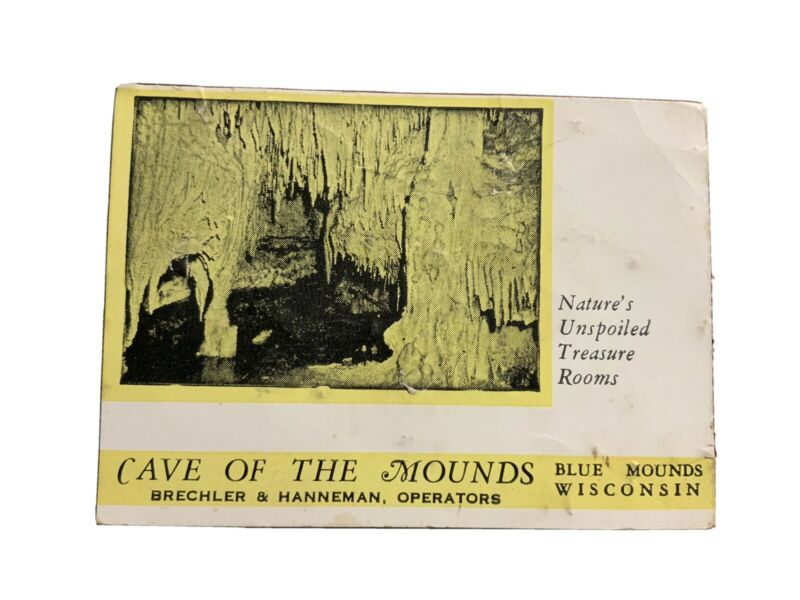 Cave Of The Mounds Blue Mounds Wisconsin WI Vtg Card Ephemera
