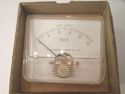 Ideal Precision Dc O-25 Voltmeter Analog Model 250