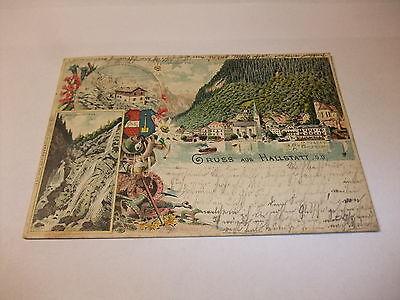 alte Postkarte Ansichtskarte Karte PK AK Gruß aus Hallstatt Österreich 1894