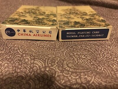 LOT OF 2 VINTAGE CHINA AIRLINES DECK OF PLAYING CARDS 80th Anniversary