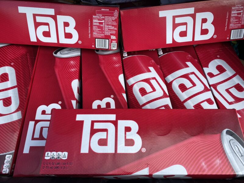 12 Pack  Case Tab Soda Coca-Cola 2020 New Free Shipping
