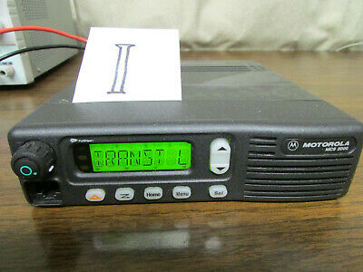 I - Motorola Mcs 2000 Mobile Radio 800mhz Uhf 250 Channels M01hx812w As-is
