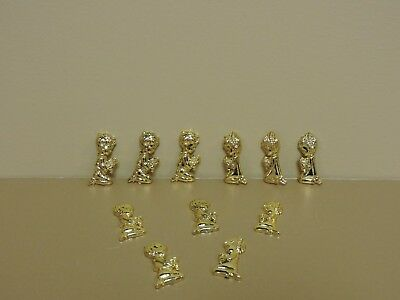 48 GOLD PLASTIC COMMUNION / BAPTISM FIGURE ACCENT(1-3/8
