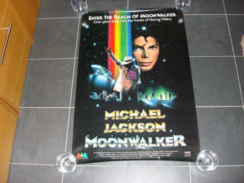 "Michael Jackson Moonwalker Original 1989 Promo USA Poster 36"" X 24"" MEGA RARE"
