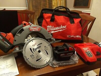 28 volt lithium ion 6 12 in cordless circular saw kit keyed blade milwaukee 2731 22hd m18 fuel high demand 7 14 circular saw greentooth Image collections