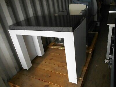 41 X 22x 4 Polished Granite Flat Mounted In Vibration Isolation Table Frame