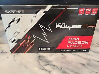 NEW SAPPHIRE Pulse AMD Radeon RX 6800 16GB GDDR6 Graphic Card In Hand