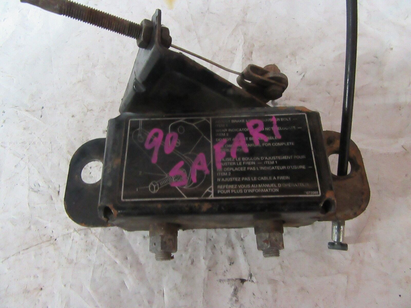 Ski-Doo Safari Brake Caliper w/Cable Item #1168