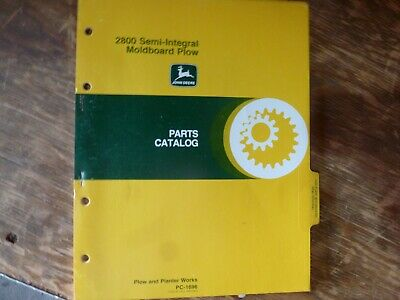John Deere 2800 Semi-integral Moldboard Plow Parts Catalog Manual Pc-1696