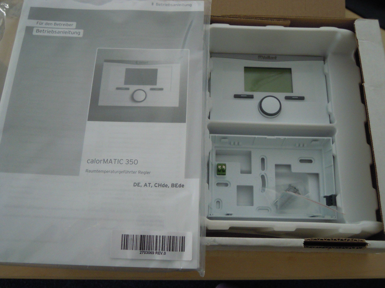vaillant calormatic 350 raumregler raumthermostat vrt 350 vrt350 neu ovp ebay. Black Bedroom Furniture Sets. Home Design Ideas