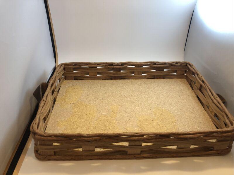 Vintage Casserole Dish Carrier Basket Holder Tray For Pyrex Brand 233 Corning