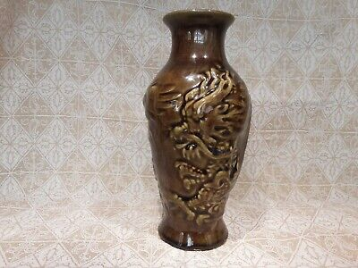 Christopher Dresser, Linthorpe,Bretby, Japanese Dragon vase,c 1882-85