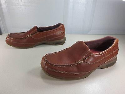 - Dunham mens brown slip on Rollbar Absorb loafers 10 D EUC MINT