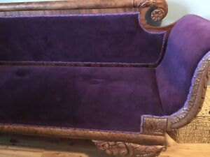 100 year old rosewood antique chaise lounger
