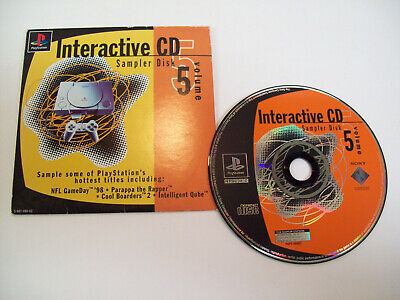 Sony Playstation PS1 Interactive CD Sampler Disc Volume 5 Near Mint Disc