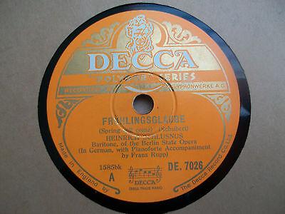 Schubert Fruhlingsglaube An Sylvia Heinrich Schlusnus Franz Rupp Decca Polydor F