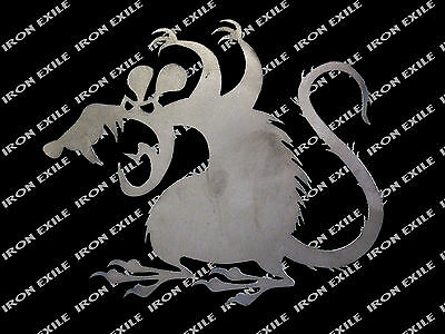 Scary Rat Metal Silhouette Hot Rod Garden Garage Decor Mice Mouse Cut Out (Scary Silhouette)