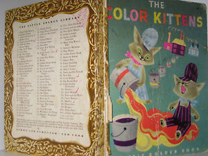 THE COLOR KITTENS - LITTLE GOLDEN BOOK (VINTAGE, 1949, RARE)