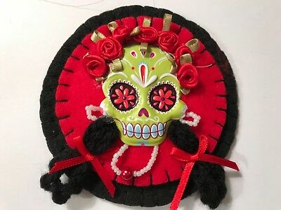 Skeleton ornament for halloween, sugar skull, catrina doll. Item C102 - Halloween Catrina