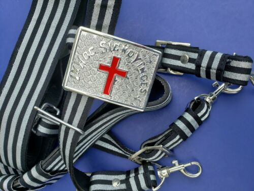 KNIGHTS TEMPLAR Sword Belt & Buckle for Sir Knight Waist Size 36