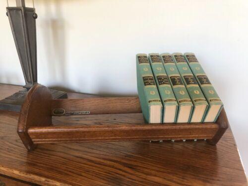 Vintage Wood Table Top Book Rack Cornwall Industries 1978 Maine USA