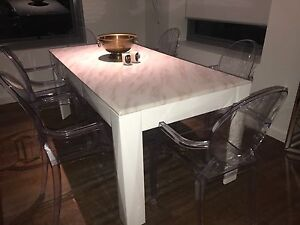 Stunning marble* finish 6 seat dining table Crows Nest North Sydney Area Preview