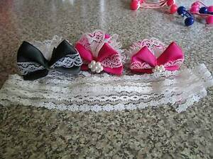 3 X Bow Hair Ties & A Lace Ribbon ***BRAND NEW*** Campbell North Canberra Preview