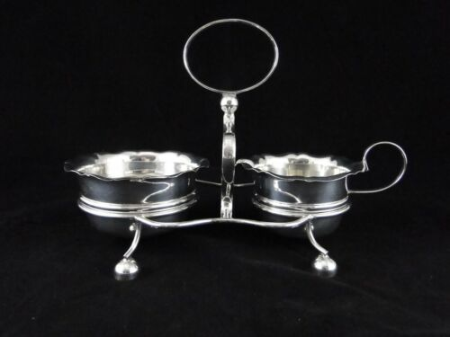 Stunning YEOMAN Silver Plate Antique Marked Sugar and Creamer Set w/ Caddy
