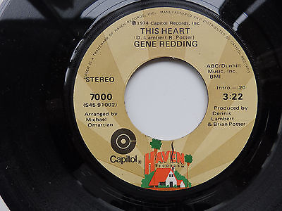 gene redding this heart capitol 1974 northern soul modern spin mint