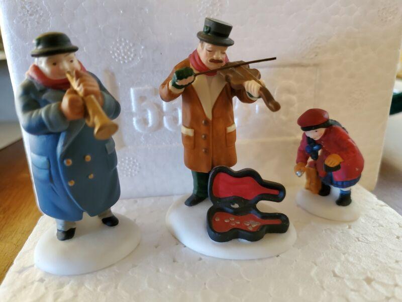 Department 56: Street Musicians - set of 3 - l Heritage Village Accessory