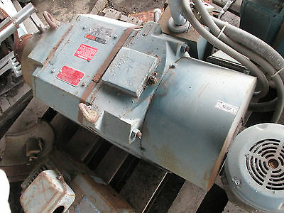 40 HP RELIANCE A.C. ADJ. DRIVE ELECTRIC MOTOR 1180/2300RPM, L3281 FRAME,  EOK