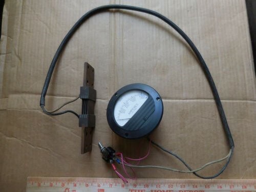 Large Electric DC Current Shunt with Amperes Meter from Magnaflux Machine