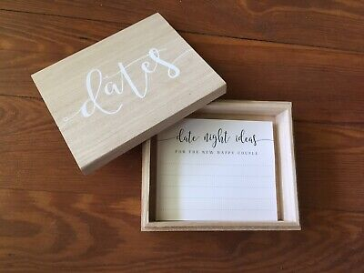Wedding Date Night Card Ideas With Wooden Box - Wedding Card Ideas