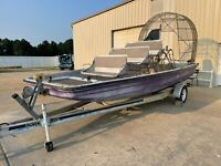 21 Foot AirBoat Boat Center Console 350 Chevy - Project- No Reserve