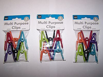 (18-PACK) Multi-Purpose Colored Kitchen Metal Food Bag Snack Chip Clips