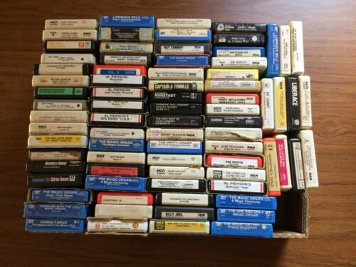 Mixed Lot of 200 8-Track Tapes - Classic Rock, Country, Classical, Swing etc.