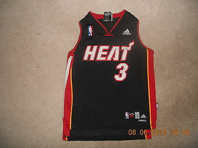 (Miami Heat NBA Basketball Jersey Dwayne Wade #3 Adidas Youth D-Wade Sweet Small)