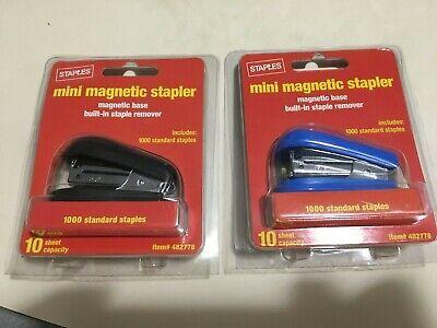 2 Brand New Staples Mini Magnetic Staplers 2000 Standard Staples Us Seller