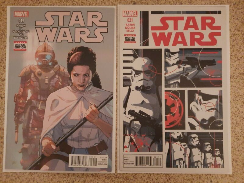 STAR WARS #19 & #21 2016 1st SCAR SQUADRON Task Force 99 VF/NM