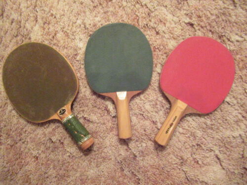 VINTAGE CHAMPIONSHIP PLAY AND WESTMINSTER TABLE TENNIS PING PONG WOOD PADDLES