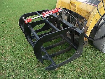 Bobcat Skid Steer Attachment - 48 Root Rake Grapple Bucket - Free Shipping