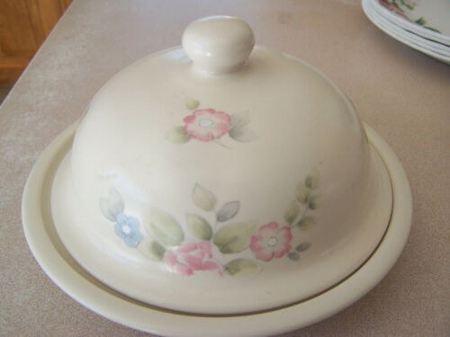 PFALTZGRAFF TEA ROSE LARGE ROUND BUTTER OR CHEESE DISH WITH DOMED LID usa