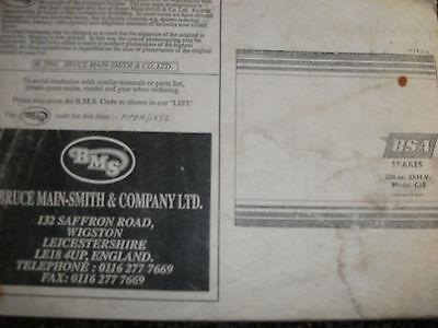 BSA SPARES PARTS BOOK- BSA 250cc OHV C15l