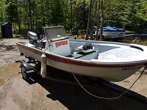 Fishing boat 16 feet trailer &30 hp oil injected Yamaha low hrs