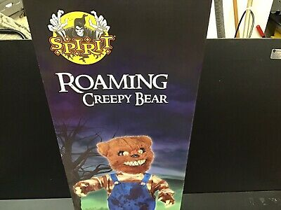 New Spirit Halloween Roaming Creepy Bear Zombie Baby Animated Halloween Prop