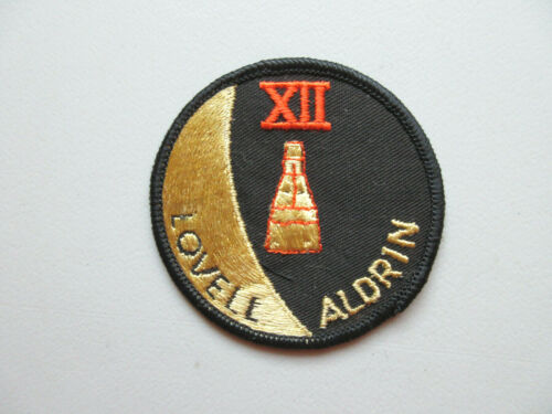 GEMINI XII 12 MISSION LOVELL ALDRIN NASA ASTRONAUTS SPACE TRAVEL ROUND PATCH