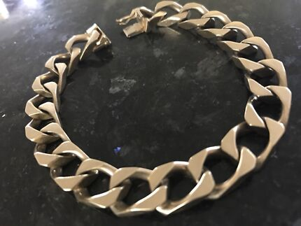 Men's Solid Yellow Gold 9ct 375 Bracelet