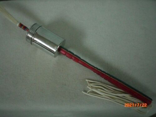 Gourd Dance Shaker, Red, White and Blue Dymond Wood Handle                    #1