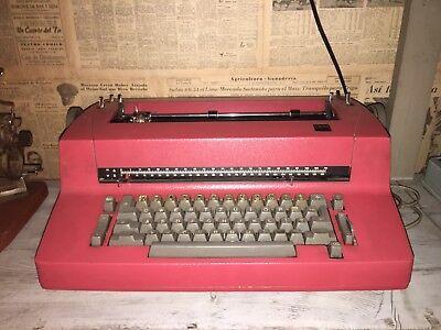 Vintage IBM Olivetti Electric Typewriter Red Orange Working Selectric Correcting