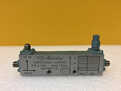 Narda 23794 2 To 12.4 Ghz 10 Db Coupling Sma F Coaxial Directional Coupler